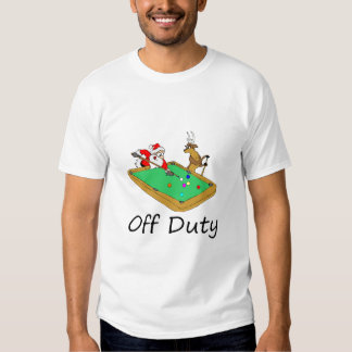 Off Duty Santa (Playing Pool) T-Shirt