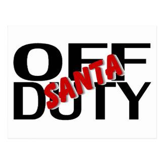 Off Duty Santa Postcard