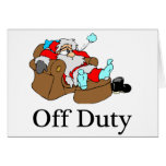 Off Duty Santa (Sleeping) Greeting Card