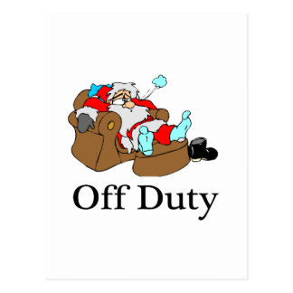 Off Duty Santa (Sleeping) Postcard