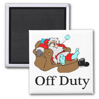 Off Duty Santa (Sleeping) Refrigerator Magnets