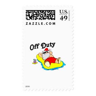 Off Duty Santa (Sunbathing) Postage Stamps