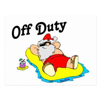 Off Duty Santa (Sunbathing) Postcard