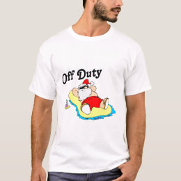 Off Duty Santa (Sunbathing) T-Shirt