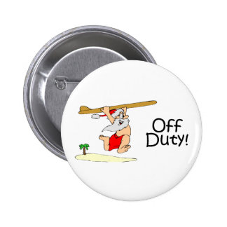 Off Duty Santa Surfing Buttons