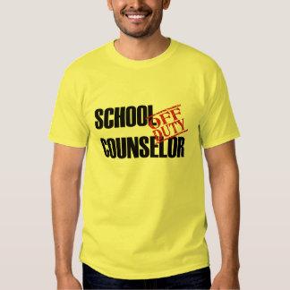 OFF DUTY SCHOOL COUNSELOR TEE SHIRT