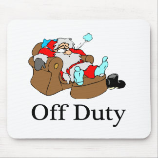 Off Duty Sleeping Santa Mouse Pad