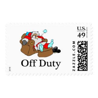 Off Duty (Sleeping Santa) Postage Stamp