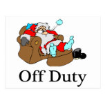 Off Duty (Sleeping Santa) Postcard