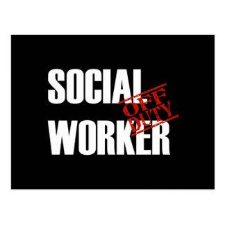 OFF DUTY SOCIAL WORKER DARK POSTCARD