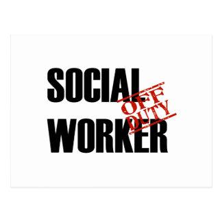 OFF DUTY SOCIAL WORKER LIGHT POSTCARD