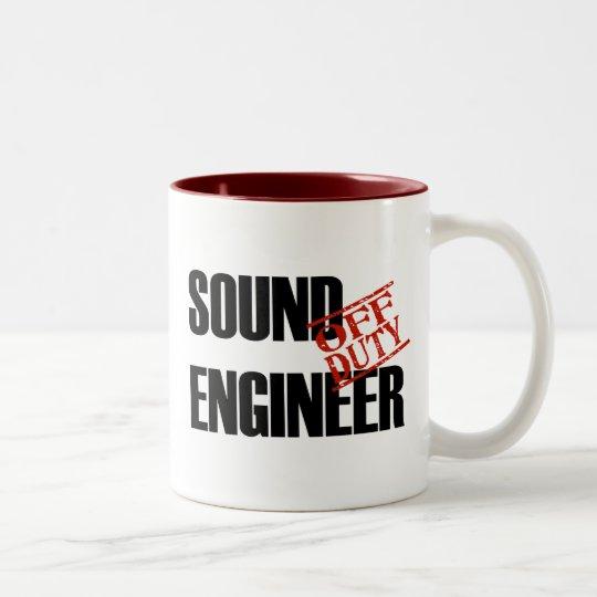 OFF DUTY SOUND ENGINEER Two-Tone COFFEE MUG