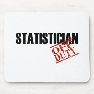 OFF DUTY STATISTICIAN LIGHT MOUSE PAD