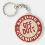 Off Duty Statistics Keychains