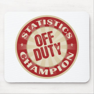 Off Duty Statistics Mouse Pad