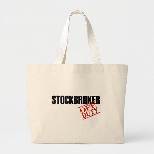OFF DUTY STOCKBROKER LIGHT LARGE TOTE BAG