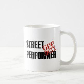 OFF DUTY STREET PERFORMER COFFEE MUG