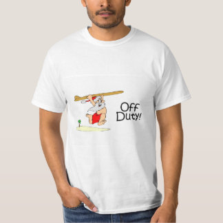 Off Duty Surfing Santa T-Shirt