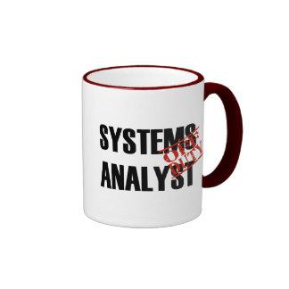 OFF DUTY SYSTEMS ANALYST RINGER COFFEE MUG