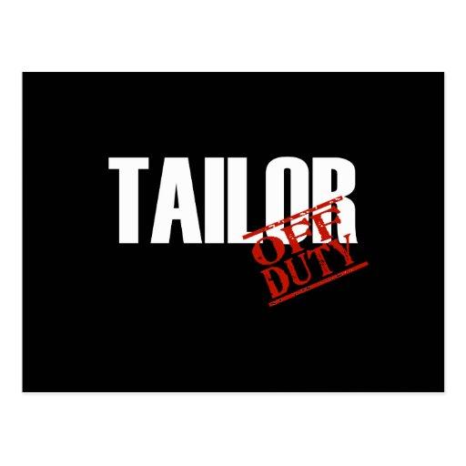 OFF DUTY TAILOR DARK POSTCARD