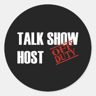 OFF DUTY TALK SHOW HOST DARK STICKERS