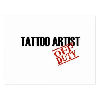OFF DUTY TATTOO ARTIST LIGHT POSTCARD