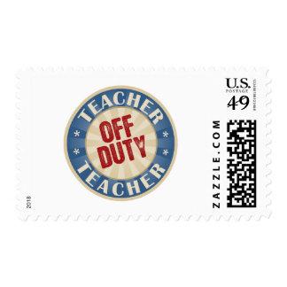 Off Duty Teacher Postage Stamp