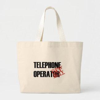 OFF DUTY TELEPHONE OPERATOR LIGHT LARGE TOTE BAG