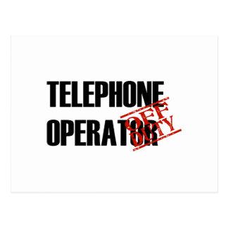 OFF DUTY TELEPHONE OPERATOR LIGHT POSTCARD