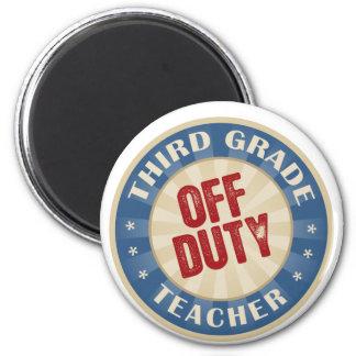 Off Duty Third Grade Teacher 2 Inch Round Magnet