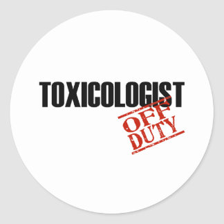 OFF DUTY TOXICOLOGIST LIGHT STICKERS