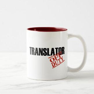 OFF DUTY TRANSLATOR Two-Tone COFFEE MUG