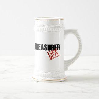 OFF DUTY TREASURER BEER STEIN
