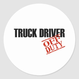 OFF DUTY TRUCK DRIVER LIGHT ROUND STICKER