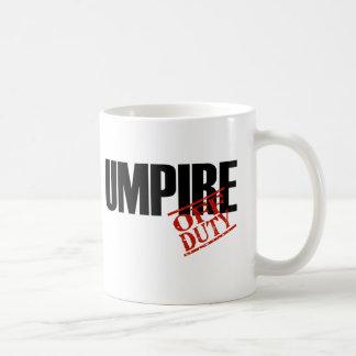 OFF DUTY UMPIRE CLASSIC WHITE COFFEE MUG