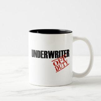 OFF DUTY UNDERWRITER Two-Tone COFFEE MUG