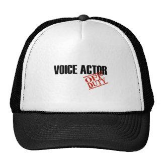 OFF DUTY VOICE ACTOR LIGHT TRUCKER HAT