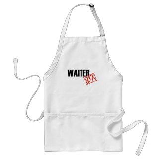 Off Duty Waiter Adult Apron