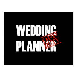 Off Duty Wedding Planner Postcard
