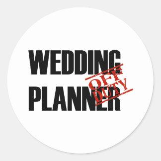Off Duty Wedding Planner Sticker