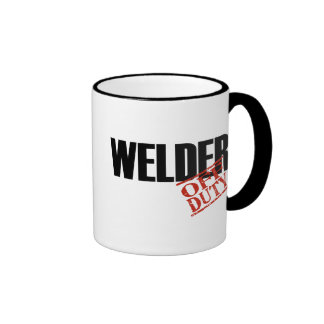 OFF DUTY WELDER RINGER MUG