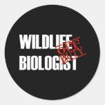 OFF DUTY WILDLIFE BIOLOGIST DARK CLASSIC ROUND STICKER