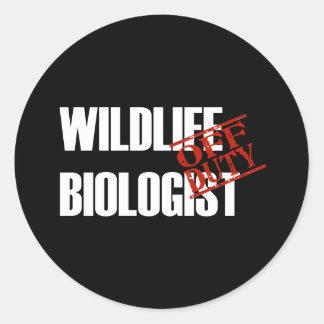 OFF DUTY WILDLIFE BIOLOGIST DARK STICKER