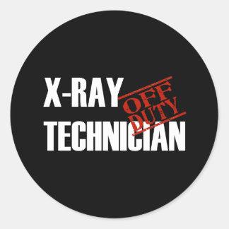 OFF DUTY XRAY TECH DARK ROUND STICKER
