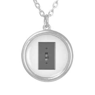 Off Electrical Light Switch Custom Necklace