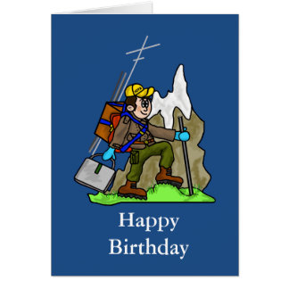 Off Grid Birthday Card for Hiking, Mountaineers