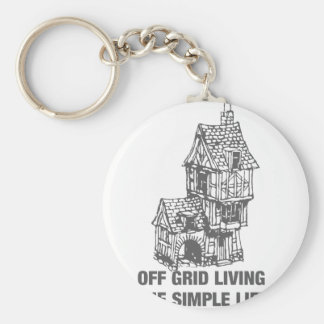 Off Grid Living - The Simple Life Keychain