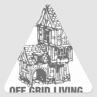 Off Grid Living - The Simple Life Triangle Sticker