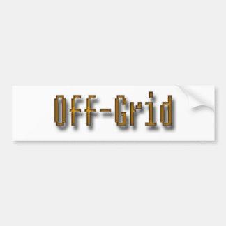 Off Grid Orange Bumper Sticker