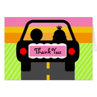 OFF INTO THE SUNSET THANK YOU CARD